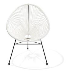 Acapulco Replica Chair - White | Kmart for Addison room with faux sheepskin rug from kmie