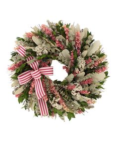 Look at this 18'' Pink Myrtle Wreath on #zulily today!