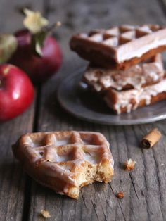 Apple Fritter Waffle Doughnuts | RecipeLion.com