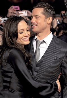 Brad Pitt and Angelina Jolie's Best PDA Moments | Pictures | POPSUGAR Celebrity