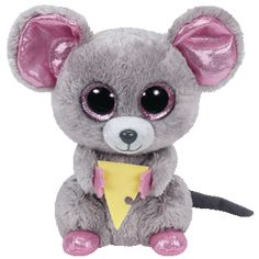 Squeaker Ty Beanie Boo - Mouse with Cheese and lots more Beanie Boos at Wonder Works Toys! Add the mouse with cheese, Squeaker, to your Beanie Boo collection today! Ty Beanie Boos, Beanie Babies, Ty Babies, Ty Stuffed Animals, Plush Animals, Ty Toys, Kids Toys, Ty Peluche, Sports Games For Kids