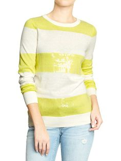 Women's Graphic-Crew Sweaters Product Image