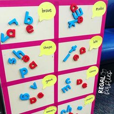 Love this idea for names, vocab, sight words Sight Word Spelling, Sight Word Centers, Teaching Sight Words, Word Work Centers, Sight Word Practice, Sight Word Games, Writing Centers, Sight Word Wall, Spelling Practice