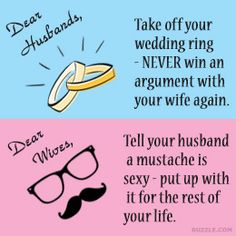 Funny marriage tips