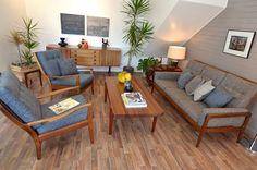 Stunning RETRO MID-CENTURY 60s Designer Lounge Sofa By DON REX [Parker Fler Era]