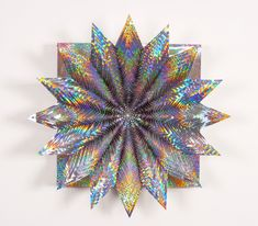Holographic Spectrum Holographic Paper Wood Glue Acrylic - Mesmerising hand crafted paper sculptures jen stark