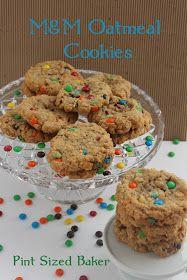 Pint Sized Baker: M&M Oatmeal Cookies
