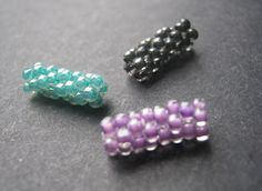Peyote Stitch tube beads  Beaded Beads