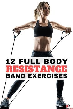 12 Full Body Workout with Resistance Bands - Resistance band exercises offer a great all-in-one workout for glutes, for arms, for legs, for abs, for b Ab Workout At Home, At Home Workouts, Workout Men, Workout Fitness, Body Fitness, Fitness Tips, Shape Fitness, Health Fitness, Fitness Watch
