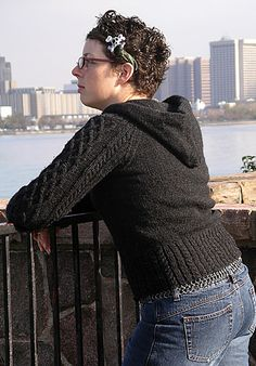 Free knitting pattern for Mariah hooded pullover and more hoodie knitting patterns