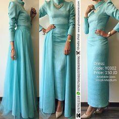 """The Glamorous Dress  فستان من قطعتين بخامة وقصة مميزه و ملوكية.. Available Sizes: S & M  الطلب و الاستفسار- وتساب:00962795756560 00962789699996…"" Islamic Fashion, Muslim Fashion, Modest Fashion, Fashion Dresses, Modest Maxi Dress, Hijab Dress, Abaya Fashion, Boho Fashion, Modele Hijab"