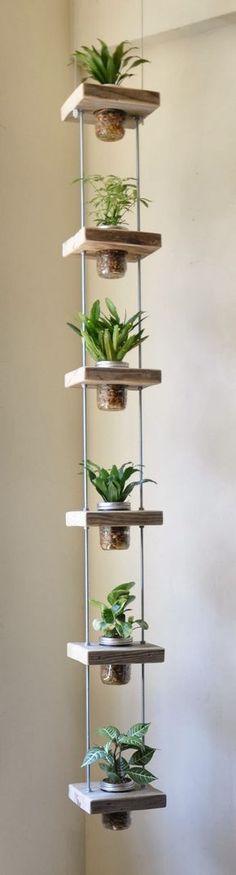 DIY vaso flutuante com potes