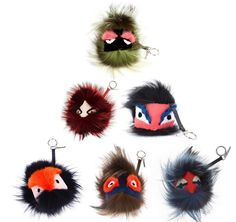 Fendi Fur Monster Keyrings @Shiloh Schneider we need to make something like this