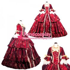 US$ 269.91 - Medieval Victorian ROCOCO Gown Ball embroidered dress Heavy work crystal Tailor-made[G3892] - www.fondcosplay.com Medieval Gown, Rococo, Cosplay Costumes, Victorian, Gowns, Crystals, Female, Dresses, Fashion