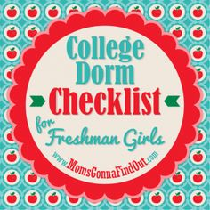 Need a college dorm checklist for freshman girls? Check out this fun list of college dorm must haves! College Dorm Checklist, College List, College Packing, College Room, College Years, College Hacks, Dorm Room, College Must Haves, Dorm Life