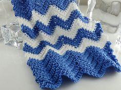 Blue Dollhouse Miniature Afghan Blanket by TheLittleEmptyNest