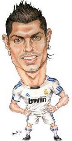 Caricaturas de jogadores de futebol
