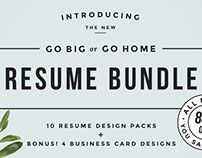 Go Big or Go Home! The Resume #Bundle by Refinery Resume