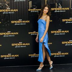 @zendaya slayed in all blue everything at a 'Spider-Man' premiere. We however are green with envy over those @badgalriri x @manoloblahnikhq heels. Link in bio for her best looks and tap for full fashion credits   via ELLE USA MAGAZINE OFFICIAL INSTAGRAM - Fashion Campaigns  Haute Couture  Advertising  Editorial Photography  Magazine Cover Designs  Supermodels  Runway Models