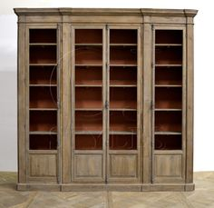 Cabinet With Burnt Sienna Backing, custom wood finish, custom paint finish, glass doors, modern style, restoration style