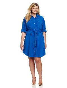 Calvin Klein Women's Button Front Shirt Dress, Cobalt, 2X Calvin Klein,http://www.amazon.com/dp/B00AWNHZNK/ref=cm_sw_r_pi_dp_kpBxsb0R8Q9GEGWF