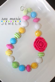 EASTER EGG, Chunky Beaded Necklace - Bubblegum Necklace - Girls Necklace - Chunky Necklace - Custom Necklace. $23.00, via Etsy.
