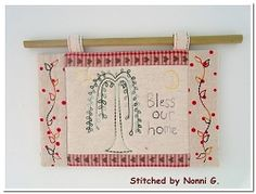 Primitive Willow Mug Rug - 2 Sizes! | Religious | Machine Embroidery Designs | SWAKembroidery.com Oma's Place