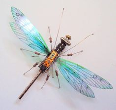 Computer Component Bugs by Julie Alice Chappell. l #recycled #insects #sculptures