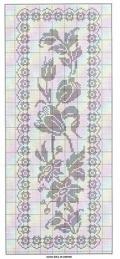 Filet Crochet - chart                                                                                                                                                     Mehr