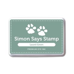 Simon Says Stamp Premium Dye Ink Pad LAUREL GREEN ink071 STAMPtember Preview Image