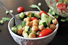 Vegan Chickpea Salad with Garlic Vinaigrette