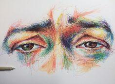 Noel Badges Pugh Pencil Art Drawings, Art Sketches, Advanced Higher Art, Art Alevel, Scribble Art, Arte Sketchbook, A Level Art, Wow Art, Color Pencil Art