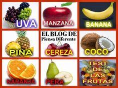 DIME QUE FRUTA PREFIERES, Y TE DIRÉ COMO ERES Elige una de estas frutas y descubre un poco más de tu personalidad o según la fruta favorita de tu pajera y así conocela una poco más a fondo. Lee tu Resultado según tú elección :
