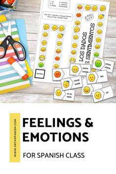 Are you looking for feelings activities for your Spanish classes? Practice activities for practicing emotions in Spanish class! Check out these resources for your novice middle school or high school Spanish classes. Reading, writing, listening & speaking activities are all included in this blog post to help you teach los sentimientos or feelings in Spanish! Great ideas for lesson plans as you teach feelings in Spanish to your secondary students! #spanishclass #secondaryspanish Feelings Activities, Class Activities, Spanish Classroom, Teaching Spanish, Middle School Spanish, Spanish Lesson Plans, Vocabulary Practice, Spanish 1, Feelings And Emotions