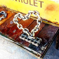 Recycled chain heart by Recycled Salvage Design www.recycledsalvage.com #repurposed #repurposedart #recycledart #reclaim #recycler #recycledsalvagedesign #instamood #instagood #instagram #love  https://www.facebook.com/photo.php?fbid=916922421706039&set=a.401333479931605.94459.100001648692147&type=1&theater