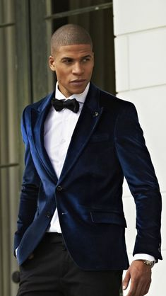 M&S mens navy blue velvet tuxedo jacket | Suits | Pinterest ...
