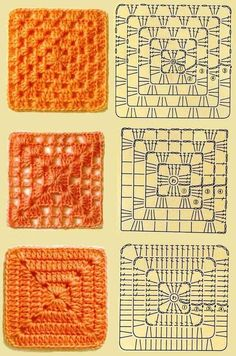Very pretty Crochet Pillow. This is not in English, but the crochet diagram should be sufficient. Discover thousands of images about Crochet granny square baby blanket pillow cushion afghan throw blanket Crochet fabric is a very popular option for liningH Crochet Motifs, Crochet Blocks, Granny Square Crochet Pattern, Crochet Diagram, Crochet Chart, Crochet Squares, Free Crochet, Crochet Stitches, Knit Crochet