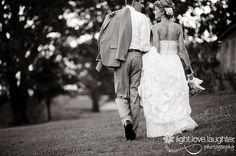 Wedding pic walking away