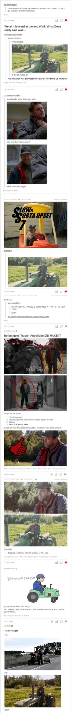 Crazy Redneck Tractor Angel - I don't care if you've never even seen the show, this is freaking hilarious #ad