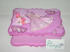 Caixa vestido rosa