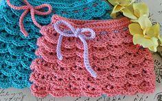 CROCHET PATTERN PDF  Ruffle Skirt Crochet by livinginamethyst
