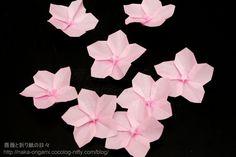 桜 Origami Love, Diy Origami, Origami Flowers, Diy Flowers, Origami Ideas, Paper Flowers, Origami Paper Art, 3d Paper, Paper Crafts