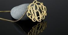 Personalized 18kt Gold Plated Sterling Silver Monogram Necklace | Jane