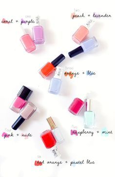 F E L B A Mani Pedi Color Combos For Summer Nail Polish Combinations