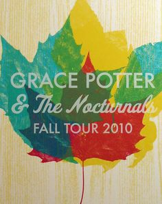 Grace Potter & The Nocturnals Fall Tour Poster