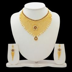Gold Plated Star Indian Bridal Traditional Bollywood Ethnic Wedding Necklace Set…