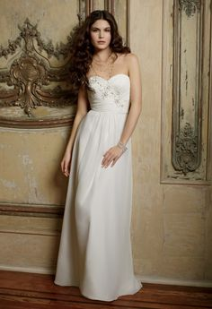 Wedding Dresses - Strapless Chiffon Wedding Dress from Camille La Vie and Group USA