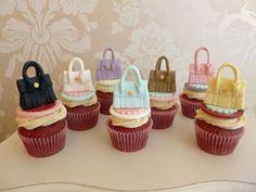 Mulberry handbag cupcakes