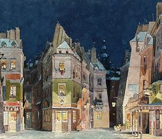 La Boheme Set Design. Adolfo Hohenstein