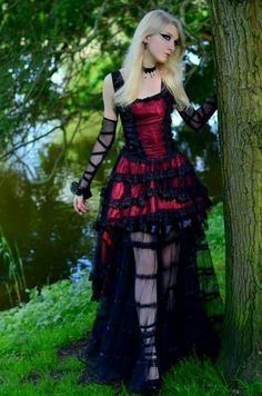 Goth girl. Gothic fashion